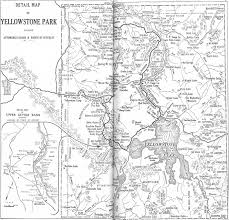 Yellowstone Park Map Wyoming Maps Perry Castañeda Map Collection Ut Library Online