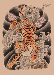 crawling tiger tattoo tiger tattoo design by u2026 pinteres u2026