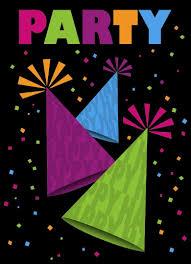 80 party invitations amazon com neon birthday party invitations 8ct kitchen u0026 dining