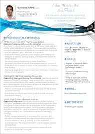 clean modern resume design administrative assistant cv resume sle word clean resume cv jobsxs com