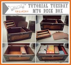 create a custom magic the gathering deck box and life counter my
