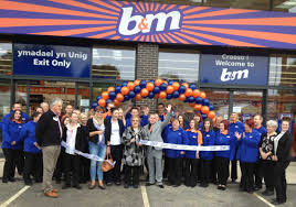 ribbon stores b m lifestyle shoppers in welshpool witness new b m store opening