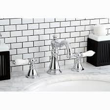 Kingston Brass Bathroom Faucet by Kingston Brass American Patriot Double Handle Widespread Bathroom