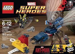 amazon lego superheroes marvel u0027s ant man 76039 building kit