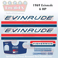 1969 evinrude 6hp fisherman outboard reproduction 9pc marine vinyl