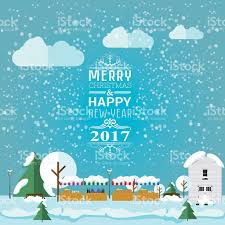 Christmas Invite Cards Invitation Card Merry Christmas And Happy New Year 2017 Stock