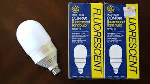 ge compax 15watt bullet pre heat fluorescent light bulb youtube
