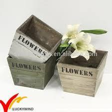 Square Planter Pots by Stack 3 Pieces Vintage Wooden Antique Indoor Square Planter Flower