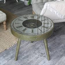 Clock Coffee Table Vintage Gold Clock Coffee Table Melody Maison