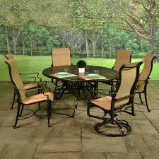 Aluminium Patio Furniture Sets Patio Ideas Bel Air Cast Aluminum Sling Fire Pit Chat Groupings