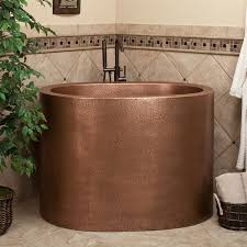 Japanese Bathtubs Small Spaces Extra Deep Japanese Soaking Tub For Small Bathroom With Bronze