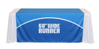 trade show table runner 60 inch wide table runner tradeshowdisplaypros com