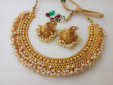 indian gold plated jewelry set ebay