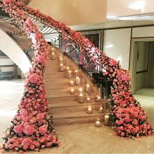 magical floral wedding staircase décor ideas u2013 weddceremony com