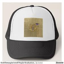 graduation cap for sale gold entangled 2018 purple graduation cap diploma trucker hat