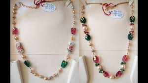 long pearl bead necklace images Light weight simple 10gram gold pearl necklace designs jpg