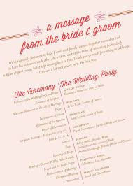 order of ceremony for wedding program what to include on your wedding program pittsburgh luxury