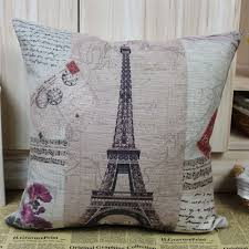 Eiffel Tower Decoration France Paris Eiffel Tower Music Sheet Cushion Cover