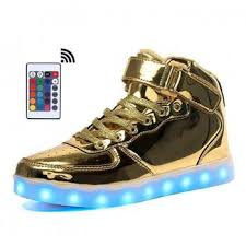 light up shoes gold high top shop gold bright led shoes