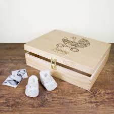 wooden baby keepsake box the personalised collection