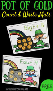 free st patricks day pot of gold count u0026 write mats