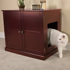 amazon com meow town concord cat litter cabinet mahogany