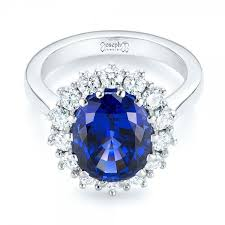 blue rings images Custom blue sapphire and diamond engagement ring 103055 jpg