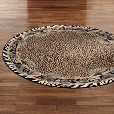Leopard Print Runner Rug Jungle Safari Animal Print Round Area Rug