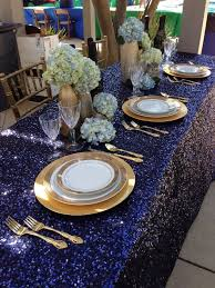 Gold Table Decorations Gold And Blue Wedding Table Decorations