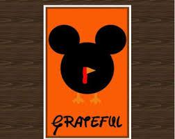 mickey thanksgiving etsy