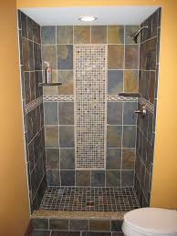 slate tile bathroom designs tile shower maybe not the same tile as the floor though looks