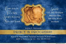royal blue and gold baby shower prince in progress sonogram invitation baby royal blue gold