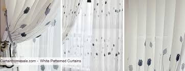 White Patterned Curtains And White Patterned Curtains 100 Images Sheer Patterned