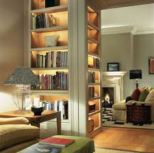 cherry wood corner bookcase john cullen lighting project showcase book love pinterest
