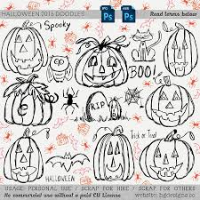 freebie halloween doodle photoshop brushes u2013 hg designs