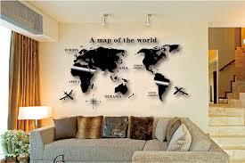Map Wall Decor by Aliexpress Buy Wall Decal World Map Wall Sticker Globe