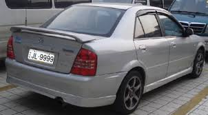 quality mazda familia 323 abs material with led light spoilers