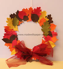 fall wreath paper craft for kids ye craft ideas