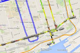 Time Map Real Time Map Gives Bird U0027s Eye View Of Ttc Service