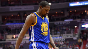 basketball player on bench golden state warriors forward kevin durant receives january nba