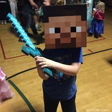 minecraft steve costume diy minecraft steve box hat