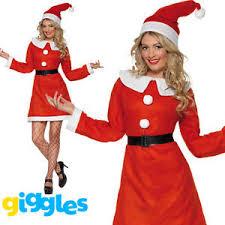 womens santa costume miss santa costume womens mrs claus christmas fancy