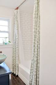Bathroom Shower Curtain by I Love The Height Of The Shower Curtains And How They Used Two