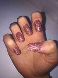 gorgeous glitter acrylic nails with gel polish acrylics nails
