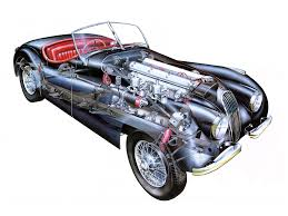 1948 50 jaguar xk120 alloy roadster uk specs illustrator