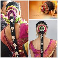 pelli poola jada southindian bridal hairstyles with flowers