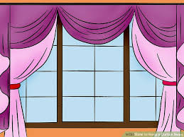 How To Hang Sheers And Curtains How To Hang A Curtain Swag 9 Steps With Pictures Wikihow