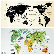 World Map Wall Poster by Online Get Cheap World Map Wallpaper Mural Black Aliexpress Com