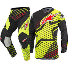 motocross gear set alpinestars 2017 mx new racer braap fluro yellow black motocross