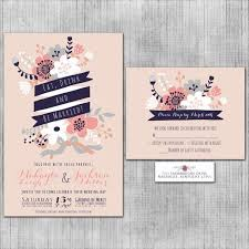 Eat Drink And Be Married Invitations Blush Pink Wedding Invitations Eat Drink And Be Married Midnight